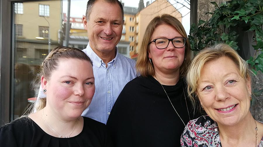 Gunilla Aronzon, förste förskollärare och förskollärare och ansvarig för projektet, Jenny Liwgren, förskollärare, Jenny Ziegenfeldt Hansson, förskollärare, och Anders Johansson, internationell koordinator, och utvecklingssekreterare i Malmö Stad.
